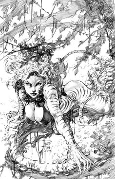 The coolest comic book art you won't see in comics. Comic Book Artists, Comic Book Characters, Comic Artist, Comic Books Art, Arte Dc Comics, Marvel Comics Art, Fantasy Kunst, Fantasy Art, Tigra Marvel
