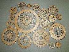 Gears Lot 2, 19 Various size Wood Wooden Steampunk Wall Art Decor