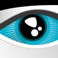 Keep a sharp look! Blue Eyes, 2d, Symbols, Icons, Glyphs