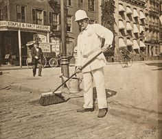 """Alice Austen took street photographs in 1896, hoping to capture the kinds of people you might see out and about in Manhattan. They're part of an album that Austen titled """"Street Types of New York."""""""