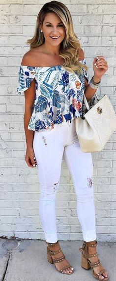 summer ootd top + bag + rips