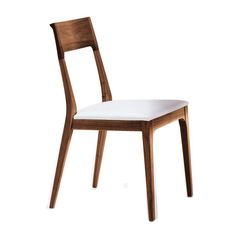 Bellini Modern Living - Capri Dining Chair in Solid Walnut and White (Set of 2)  - Capri WHITE