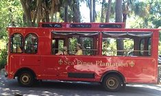 While visiting Harbour Town on Hilton Head, catch the free red Sea Pines trolley that runs during summer & some spring months. Details: http://www.southernmamas.com/roadtrips/