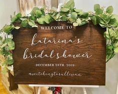 Bridal Shower Welcome Sign, Bridal Shower Signs, Bridal Shower Decorations, Wedding Decorations, Front Porch Signs, Custom Wood Signs, Hand Painted Signs, Farmhouse Signs, Wedding White