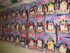 Playful penguin collage, gr. 2