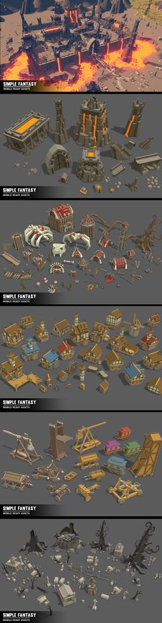 SIMPLE FANTASY - Cartoon Assets A massive asset pack of Fantasy Environments, Vehicles, Characters, Props, Items, Weapons and Animations Includes demo scene. *Looks great in VR and on mobile*