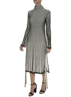 Vestido Midi Tricot Trançado Coven