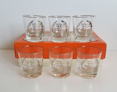 Vintage Cutler Fine Blown Beverage Glasses, Anniversary Graphics by on Etsy Shot Glass, Wine Glass, Mugs, Unique Jewelry, Tableware, Handmade Gifts, Silver, Beverage, Etsy