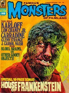 Classic Monster Movies, Classic Monsters, Horror Films, Horror Art, Lon Chaney Jr, The Frankenstein, Shadow Photos, Horror Monsters, Famous Monsters
