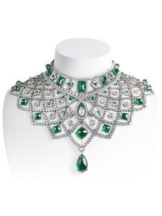 Romanov emerald and diamond collar by Fabergé