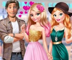 Elsa and Barbie Blind Date