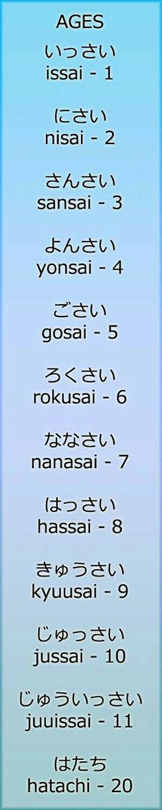 Ages by LearningJapanese, on DeviantArt, Nihongo Learn Japanese Words, Study Japanese, Japanese Kanji, Japanese Culture, Hiragana, Language Study, Language Lessons, Learn A New Language, Japanese Quotes