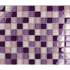 Purple Gl Mosaic Tiles Backsplash Kitchen Bathroom Wall And Floor Crystal Tile Flooring Shower Designs