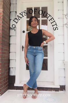 Here are 6 tips to help you make a month of outfits for everything from backyard barbecues to going out for drinks using Stylebook. Minimal Wardrobe, New Wardrobe, Capsule Wardrobe, Wardrobe Staples, Wearing All Black, All Black Outfit, 30 Outfits, Casual Outfits, Barbecue Outfit