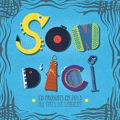 "Couverture ""Son d'ici""  #studioWQ #studiodoublevecu #graphisme #graphicdesign #cdcover #graphiste #lorient #graphistelorient"