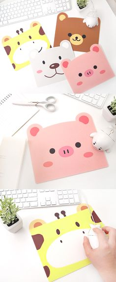 It's a overwhelmingly adorable animal face mouse pad! It's sure to turn your desk super cute!
