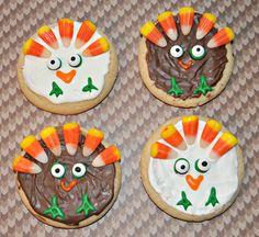 Turkeys Cookies - Thanksgiving Treats for Kids