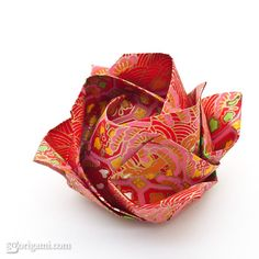 Make yourself a beautiful origami flower magnet, with easy instructions and pictures on this website.