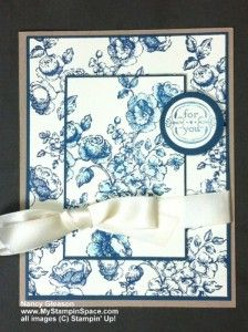 Blue Toile Stampin Up Elements of Sytle