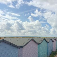 Blue skies and beach huts  #southsea #eastney #beachhuts #pastelcolours