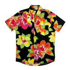 Camisa Oh! Floral, Hawaii, Button Down Shirt, Men Casual, Mens Fashion, Vintage, Mens Tops, T Shirt, Tropical