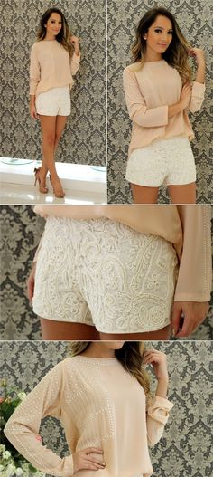 on the go outfits Cute Summer Outfits, Short Outfits, Cool Outfits, Casual Outfits, Girl Fashion, Fashion Looks, Fashion Outfits, Look Con Short, Moda Paris