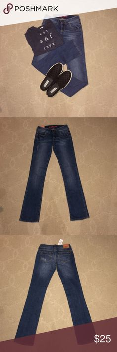 Morgan Jeans skinny boot jeans. super cute for fall!!! new with tags. rips came with it. not American eagle. from delias:))) American Eagle Outfitters Jeans Boot Cut