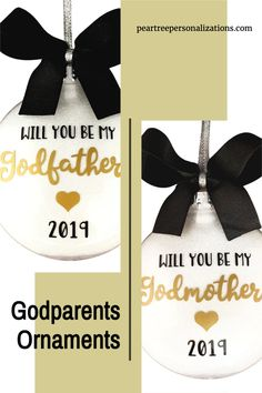 Godmother proposal ideas, godfather proposal ideas baby boy, godparents ornament, will you be my godparent gifts Baptism Food, Baptism Ideas, Boy Baptism, Engagement Ornaments, Wedding Ornament, Baptism Gifts For Boys, Baptism Centerpieces, Godfather Gifts, Godparent Gifts