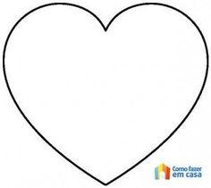 Molde de coração para artesanato Felt Crafts, Diy And Crafts, Crafts For Kids, Paper Crafts, Easy Halloween Crafts, Heart Template, Heart Patterns, Colouring Pages, Pattern Blocks