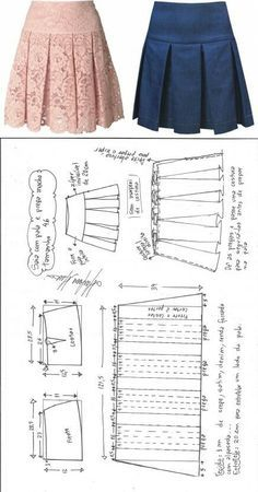 Saia com pala e pregas macho – DIY – molde, corte e costura – Marlene Mukai // Ольга Зелинская Pleated Skirt Pattern, Skirt Patterns Sewing, Sewing Patterns Free, Clothing Patterns, Skirt Pleated, Skirt Sewing, Pattern Sewing, Free Pattern, Sewing Tutorials