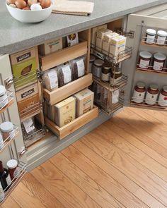 Kitchen organization ideas: pantry cabinets