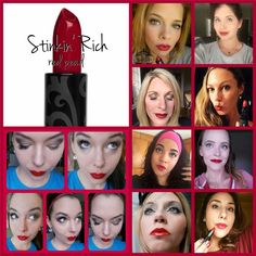 Younique Opulence Lipstick in STINKIN' RICH  The perfect 'red pearl' color
