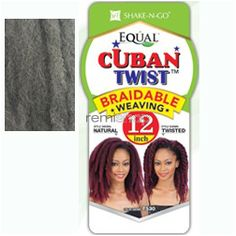 """Wed Jan 27, 2016 - #7: Equal (SNG) Cuban Twist Weaving 12"""" - Color Grey - Synthetic Weaving"""