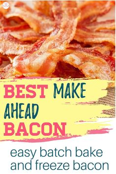 Love bacon? Then you need to check out this make ahead bacon recipe. Get an endless supply of batch cooked bacon in your freezer in 20 minutes. This easy meal prep idea is going to save you so much time cooking bacon when you just want a BLT, crumbled bacon in your fresh salad, or any other meal idea that calls for cooked bacon. #food #mealprep #batchcooking #makeahead #bacon Bacon Food, Cooking Bacon, Batch Cooking, Freezer Cooking, Bacon Recipes, Low Carb Recipes, Family Meal Planning, Budget Meal Planning, Meal Planning Printable