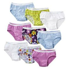 Hanes® Girls Assorted Print 9-Pack Hipsters Underwear $8.99
