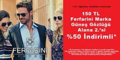 1-31 Ağustos tarihleri arasında, CEPA Opmar Optik'in Ferfarini güneş gözlüğü kampanyasını kaçırmayın!