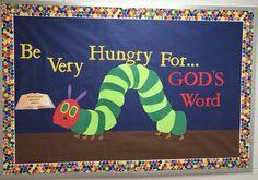 Very hungry caterpillar bulletin board.