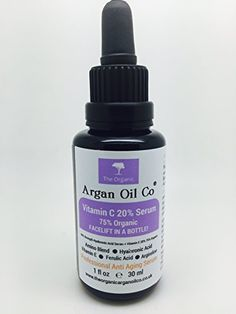 Vitamin C Serum for Your Face. 1 Oz (30 ml). Clinical Strength 75% Organic 20% Vitamin C + Hyaluronic Acid.Special Exclusive Amazon Launch Price!