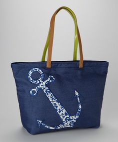 Look what I found on #zulily! Navy Anchor Tote by Sam & Hadley #zulilyfinds