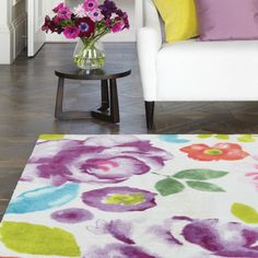 Helsinki Rugs from the Boca range offer eye catching floral designs with a selection of pastel colours.