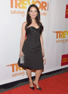 Pin for Later: It's a Celebrity White Party —and You're Invited Lucy Liu Lucy Liu at the TrevorLIVE NY benefit.