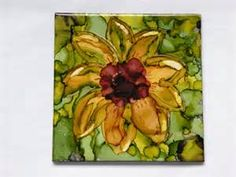 alcohol ink tiles - yahoo Image Search Results