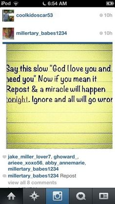 I don't believe in chain mail, but I just wanted to tell God that I love him <3