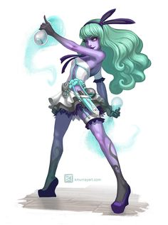 Katherine Murray (kuthinks) Illustration (Monster High meets Game Art: Twyla by Katherine...)
