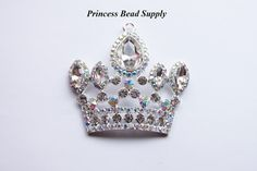 Hey, I found this really awesome Etsy listing at https://www.etsy.com/listing/227889300/clear-white-princess-crown-tiara