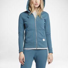 Converse Essentials Sportswear Full-Zip Women's Hoodie Size Medium (Green)