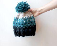 Cute Winter Hat Adult Pom Pom Hat Knit Wool Hat Warm Toque