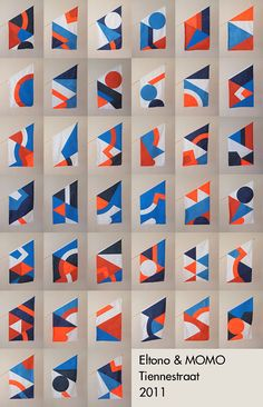 Blue and red, printed, flags. Eltono-MOMO-All-Flags