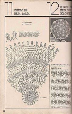 Patrón #500: Centro de mesa con bodoques a Crochet ~ CTejidas [Crochet y Dos Agujas]