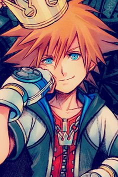 I think this is official artwork for Kingdom Hearts but I could be wrong....